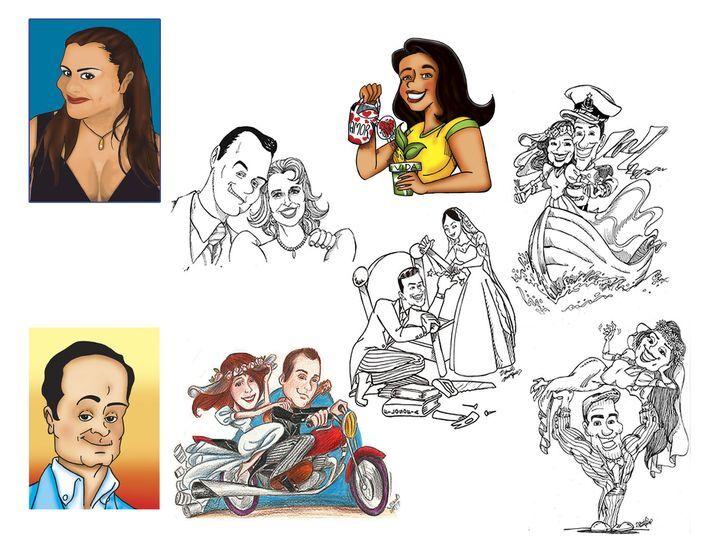 Personalização com Caricaturas