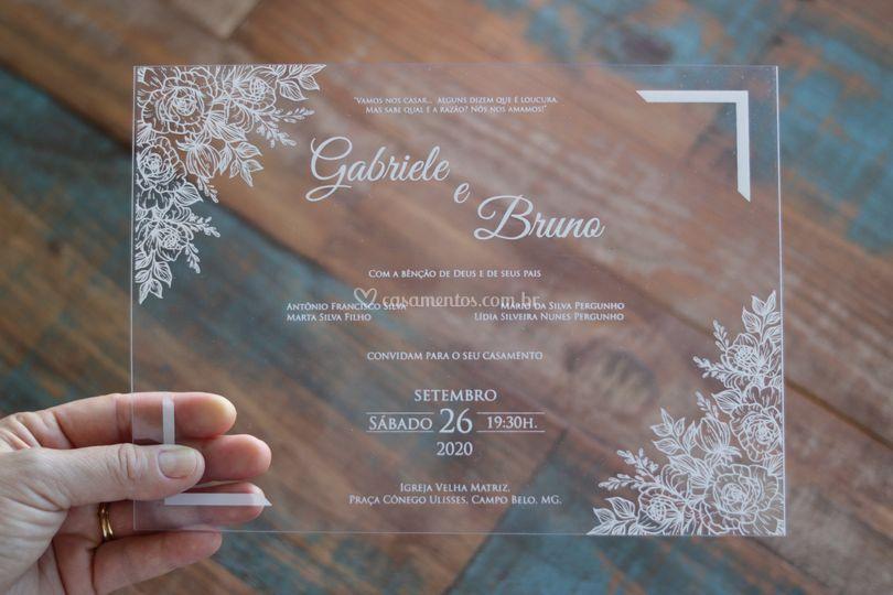 Convite de casamento acetato