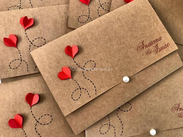 Envelope Romantico Rustico
