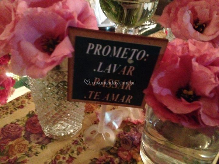 Detalhes para decorar a mesa