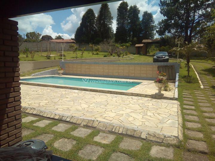 Visão da frente da casa
