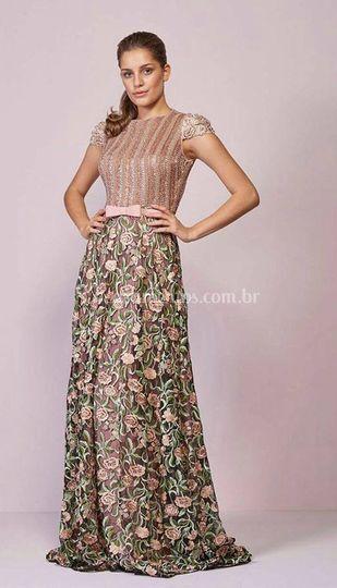 Vestido renda florida