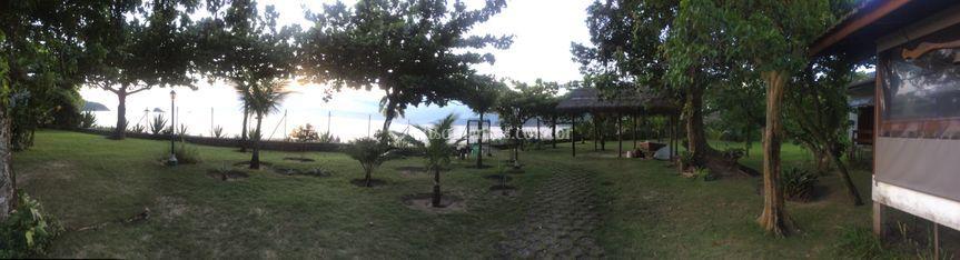 Jardim da frente praia