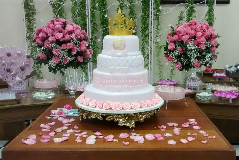 Decoração rosa princesa