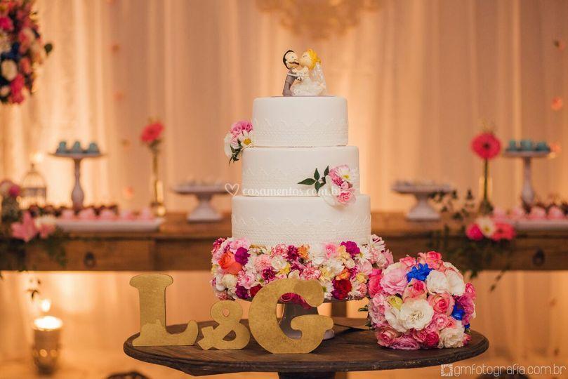 Base do bolo de flores