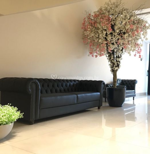 Mobília do espaço lounge