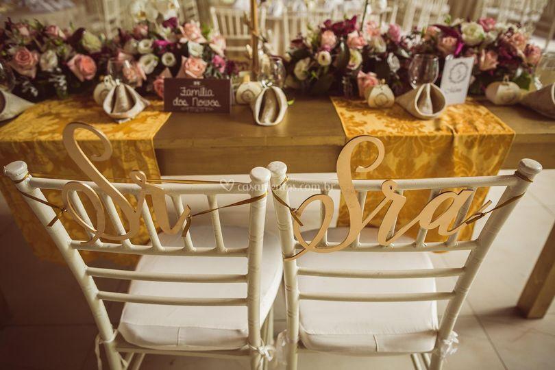 Mesa do noivos