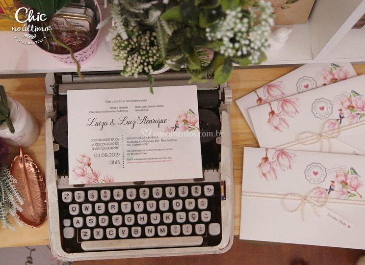 Convite Carta Lovely