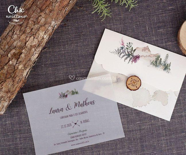 Convite aquarelado