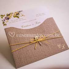 Convite Floral envelope Linhão