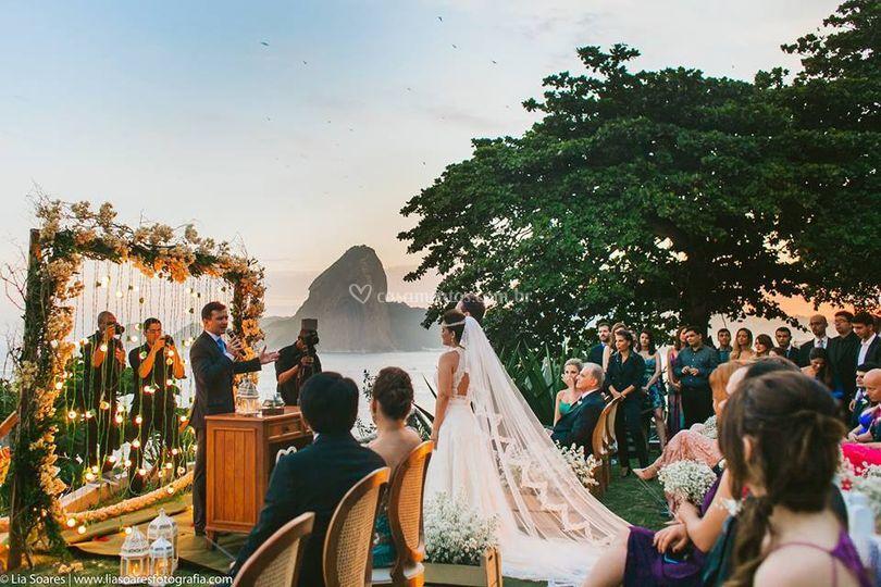 Cerimônia ao ar livre gramado