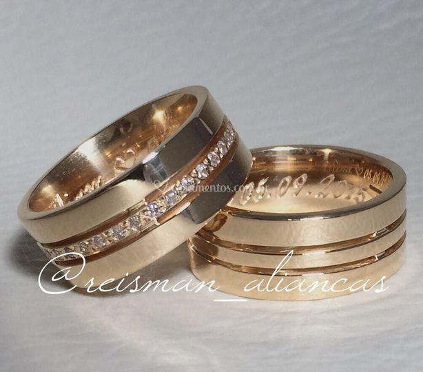 Alianças Trieto Diamantes Cent