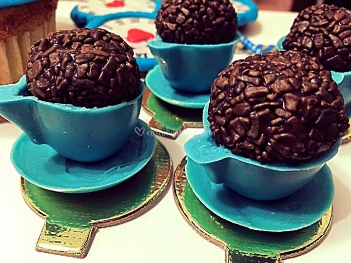 Brigadeiro xícara de chocolate
