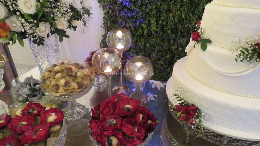 Luisa eventos mesa do bolo