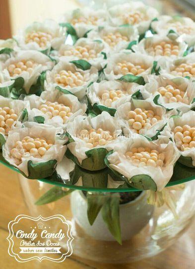 Brigadeiro gourmet de flor