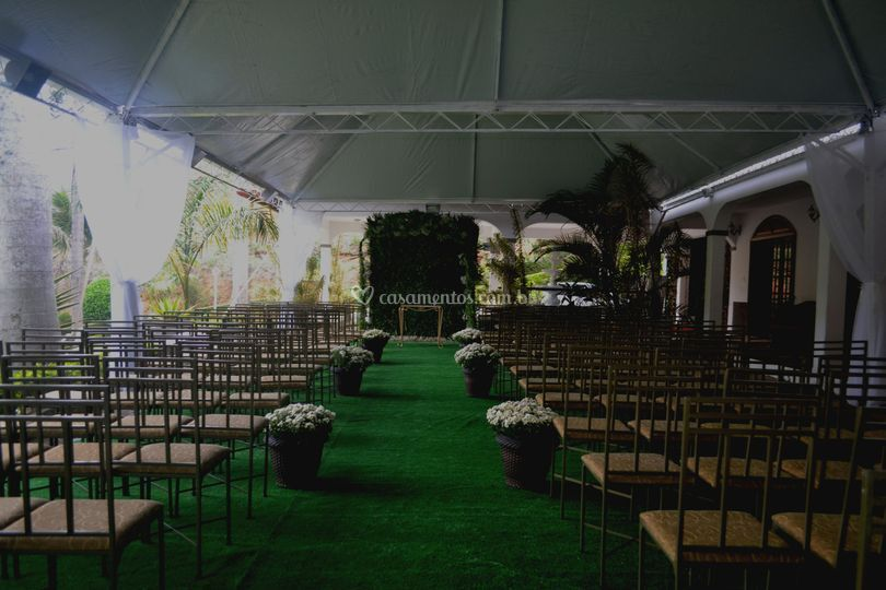 Cerimônia c/ tenda ao ar livre