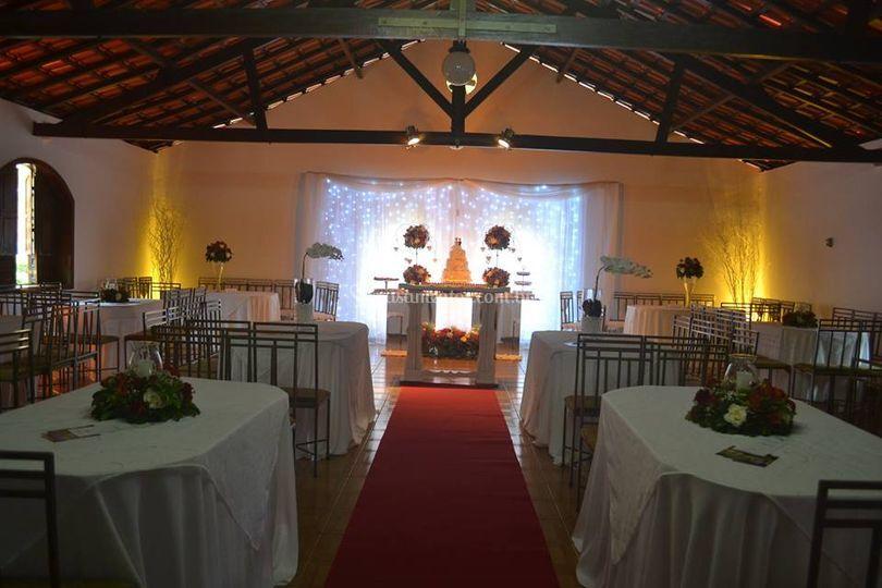 Salão com cerimônia