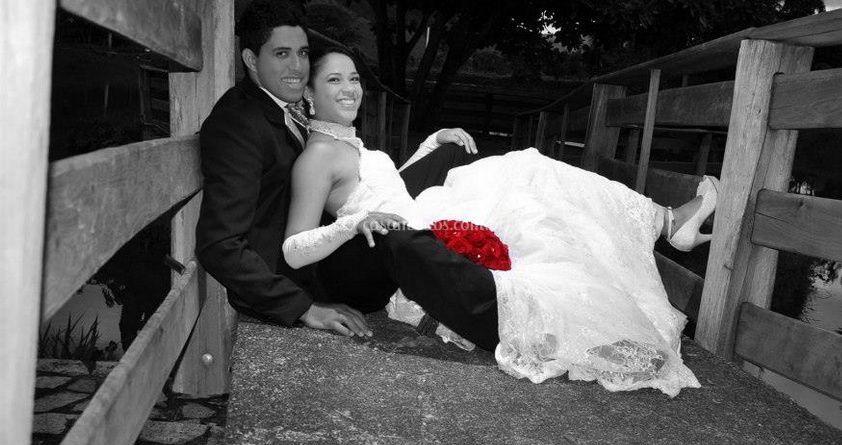 Foto en preto e branco