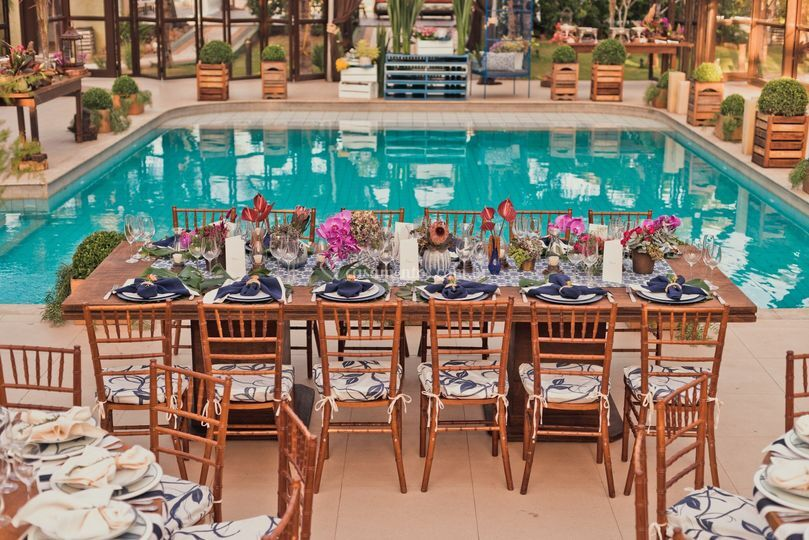 Jantar piscina