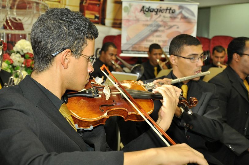 Violino com flauta transversal