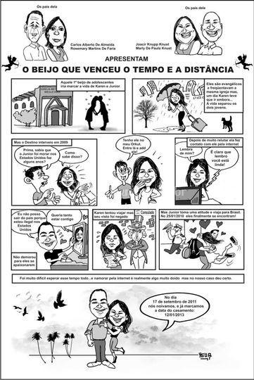 Convite em quadrinhos