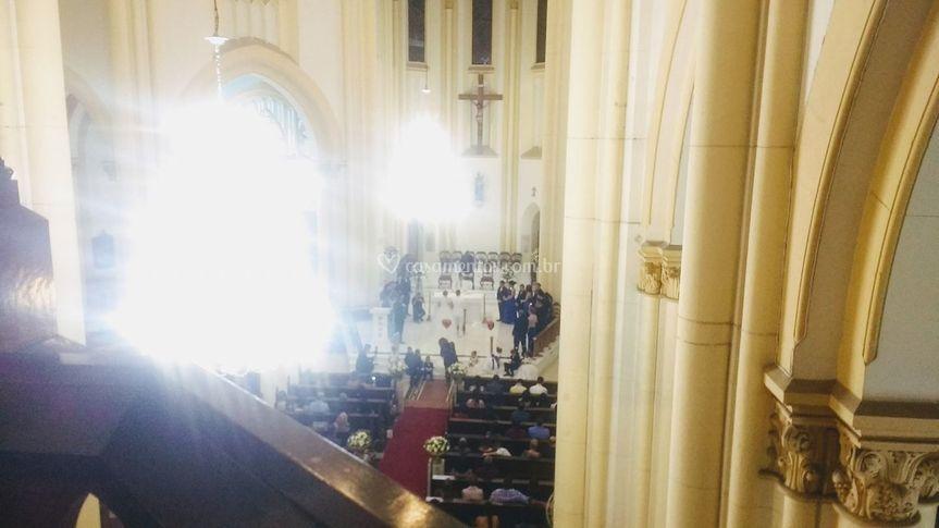 Cumprimentos na Catedral