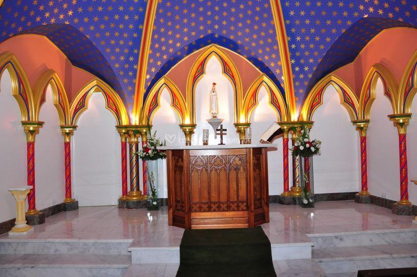 Parte interna da capela