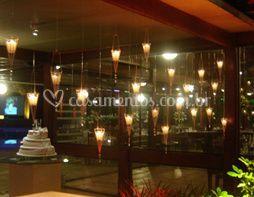 Iluminação com velas