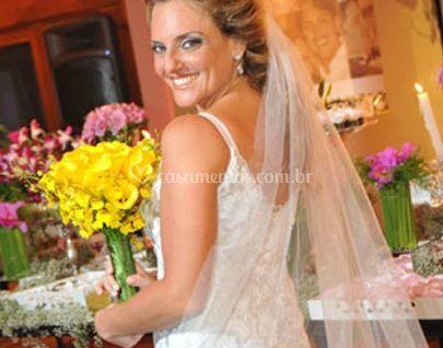 Detalhe do véu de noiva