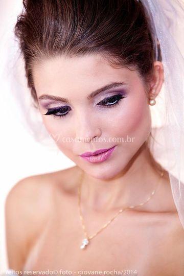 Penteado e maquiagem para noiva