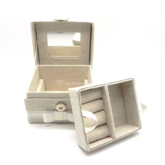 Caixa mini bijoux com bandeja