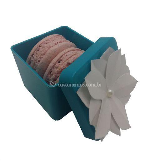 Caixa acrilico com macarons