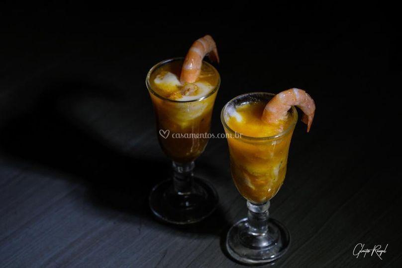 Coquetel de camarão