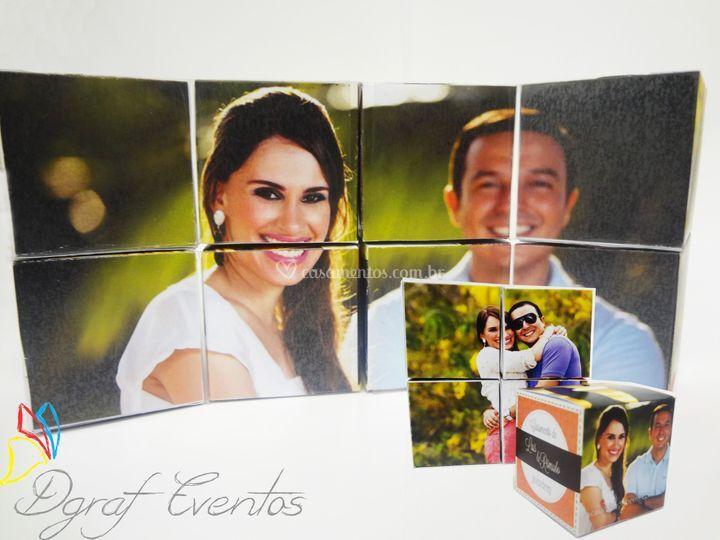 Cubos de fotos para lembranças