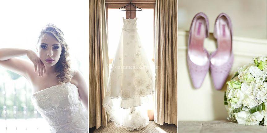 Fotos da noiva e dos detalhes