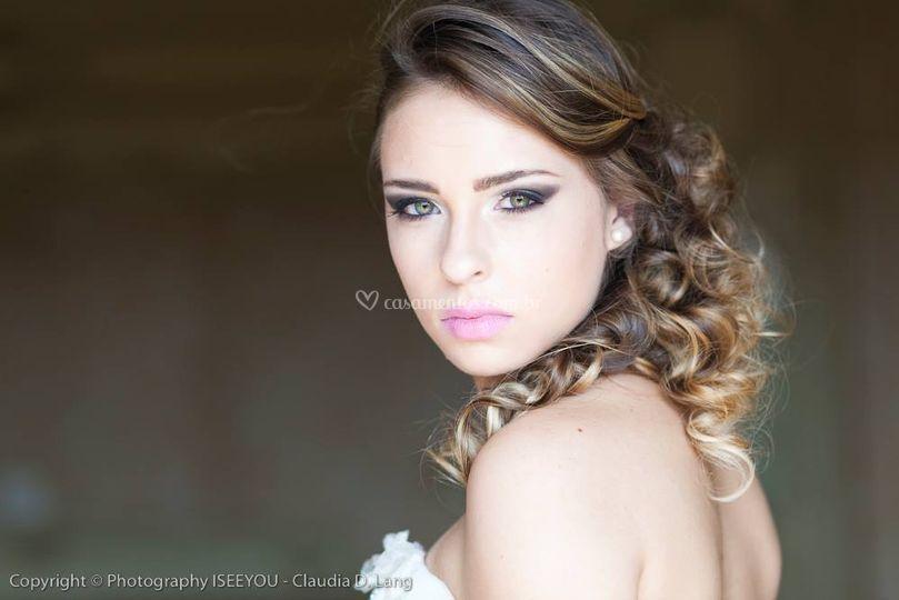 Retrato da beleza da noiva