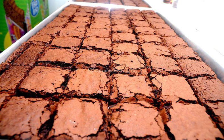 Tabuleiro de Brownie antes do