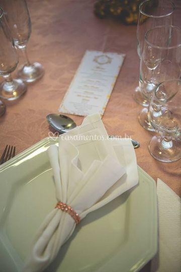 Organização das mesas