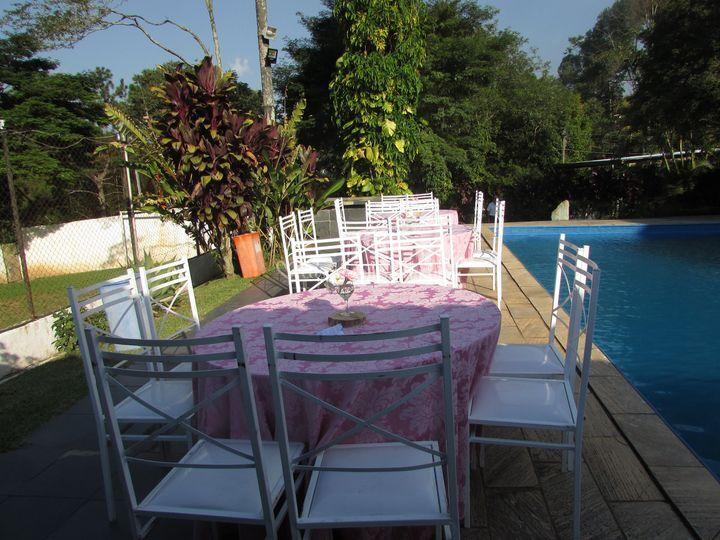 Área da piscina decorada fot1