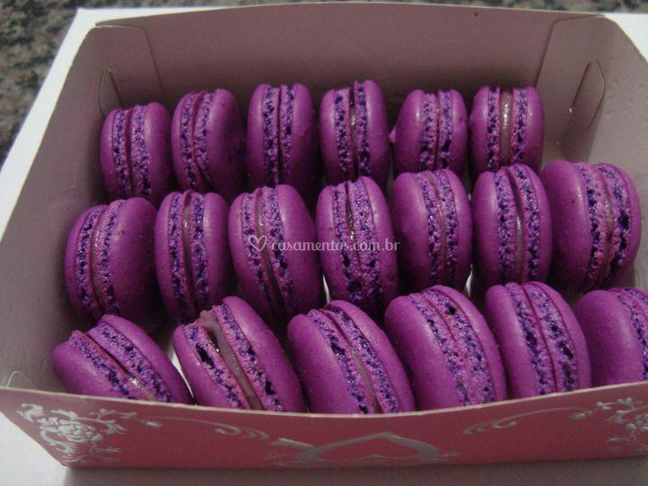 Macarons de mirtilo