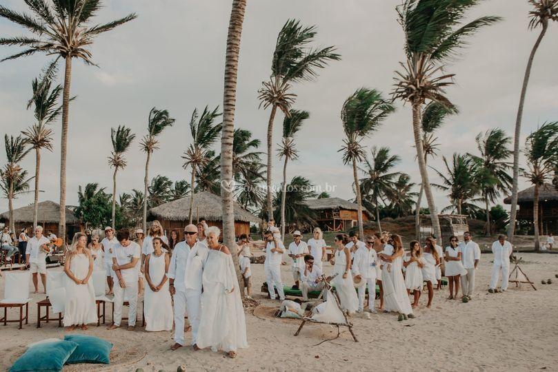 Cerimônia pé na praia