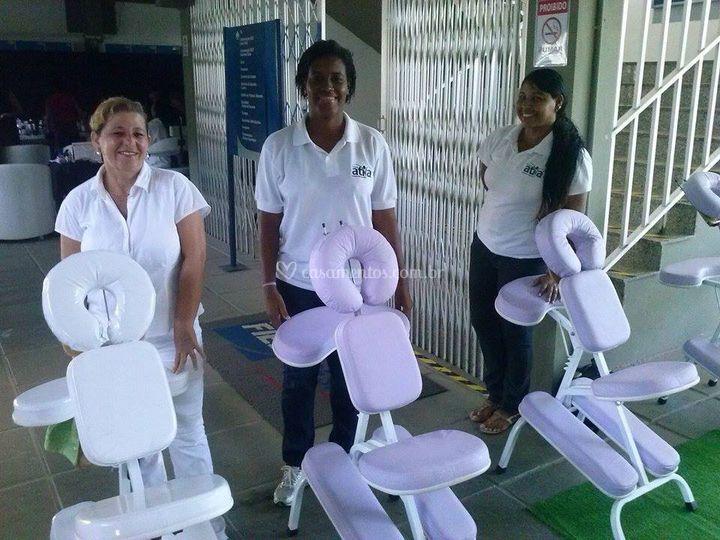 Equipe de massagistas