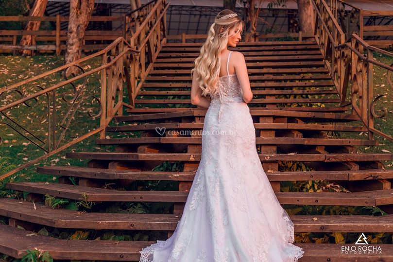 Vestido semi sereia