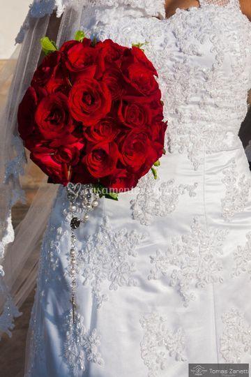O bouquet vermelho