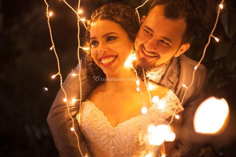 Casamento com luzes especiais
