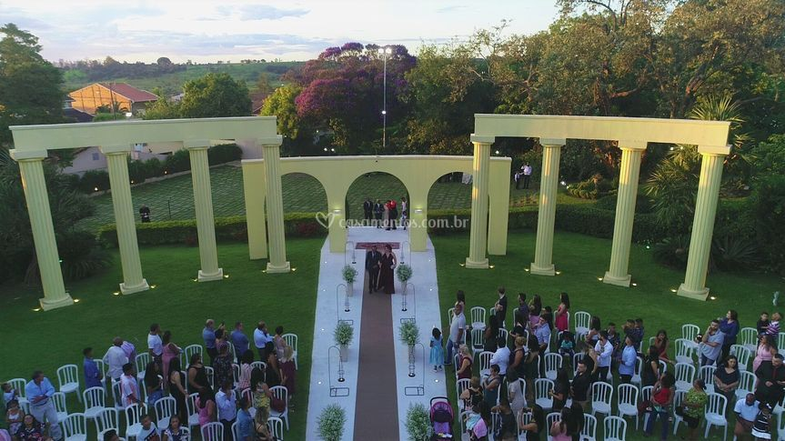 Drone, cerimônia ao ar livre