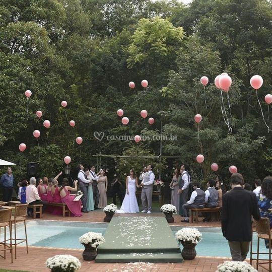 Cerimônia dos balões de ar