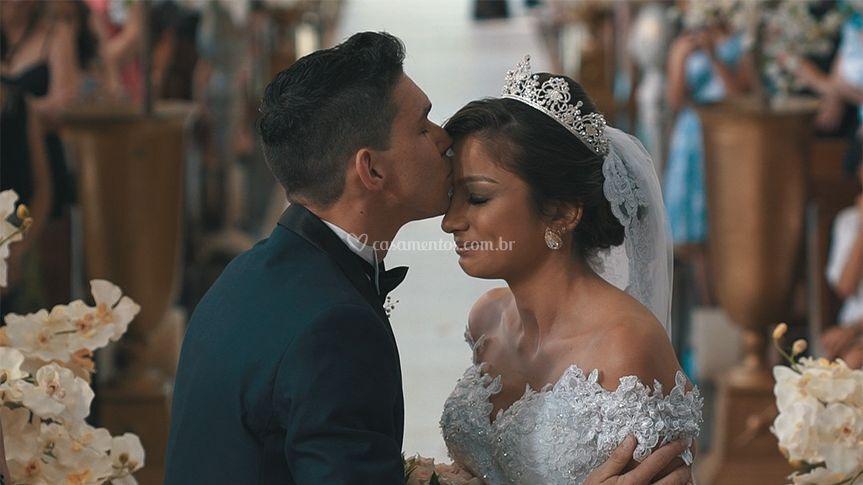 Ao receber a noiva