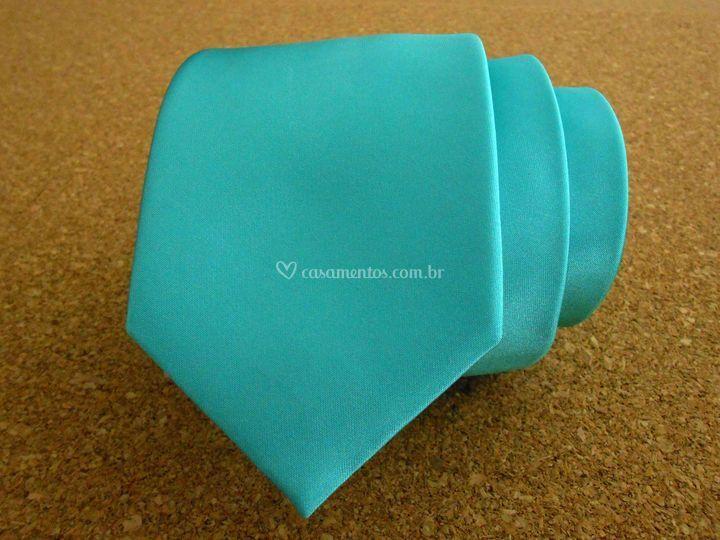 Gravata de cetim verde Tiffany