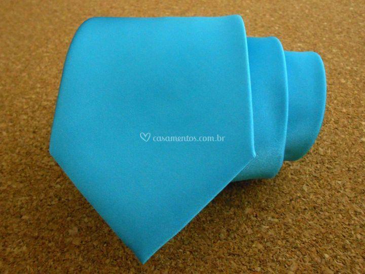 Gravata de cetim azul Tiffany
